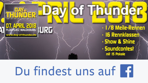 Day of Thunder - auf Facebook